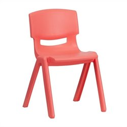 Plastic Stackable School Chair in Red