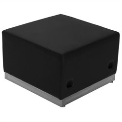 Steel Base Ottoman in Black