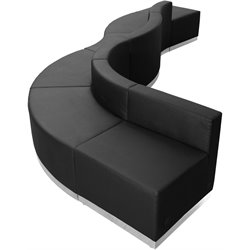 6 Piece Reception Seating in Black
