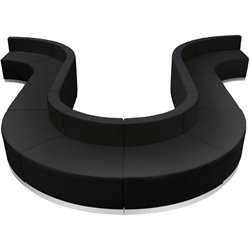 10 Piece Reception Seating in Black