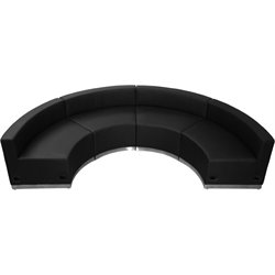 4 Piece Reception Seating in Black