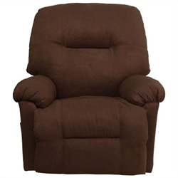 Contemporary Calcutta Chaise Recliner in Chocolate