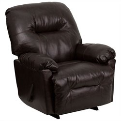 Contemporary Bentley Chaise Rocker Recliner in Brown