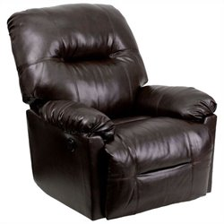 Contemporary Bentley Chaise Power Recliner in Brown
