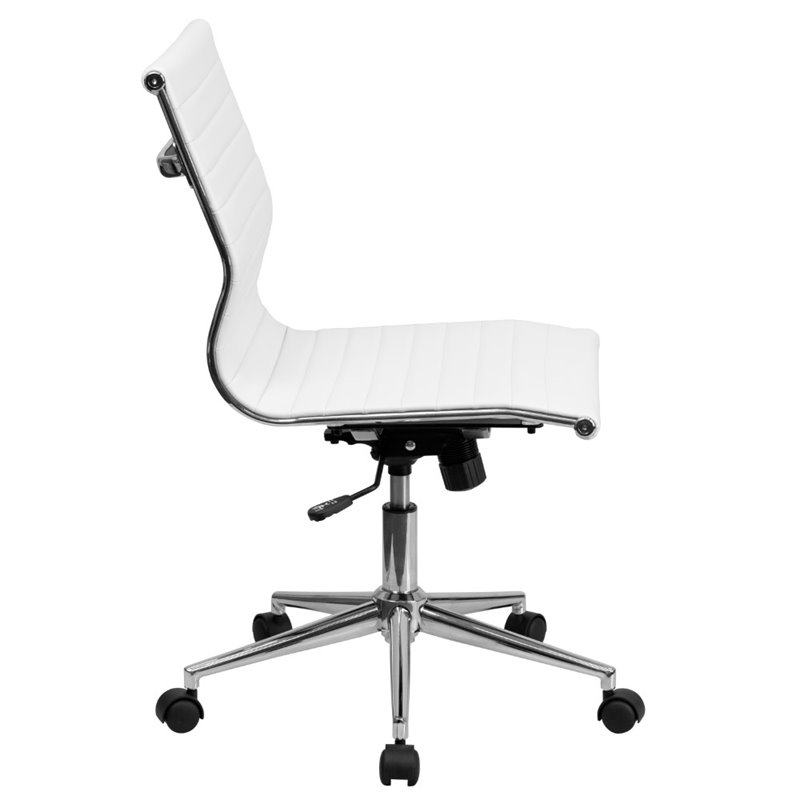 armless upholstered office chair in white bt 9836m 2 wh gg