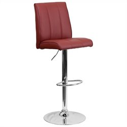 Adjustable Bar Stool in Burgundy