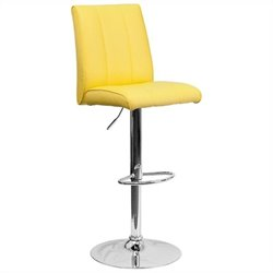 Adjustable Bar Stool in Yellow