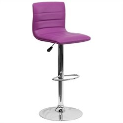 Striped Bar Stool in Purple
