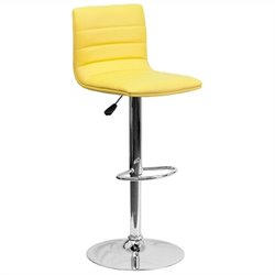 Striped Bar Stool in Yellow