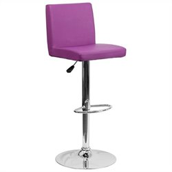 Contemporary Bar Stool in Purple