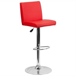 Contemporary Bar Stool in Red