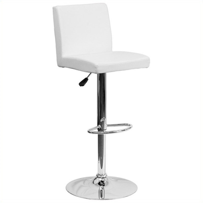 Contemporary Bar Stool in White