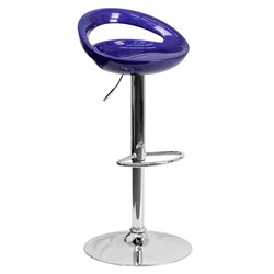 Contemporary Adjustable Bar Stool in Blue