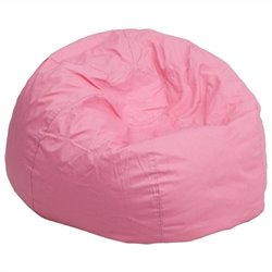 Oversized Solid Bean Bag Chair in Pink