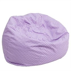 Kids Bean Bag Chair in Lavender with Small Dot Pattern