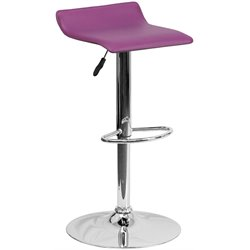 Backless Bar Stool in Purple