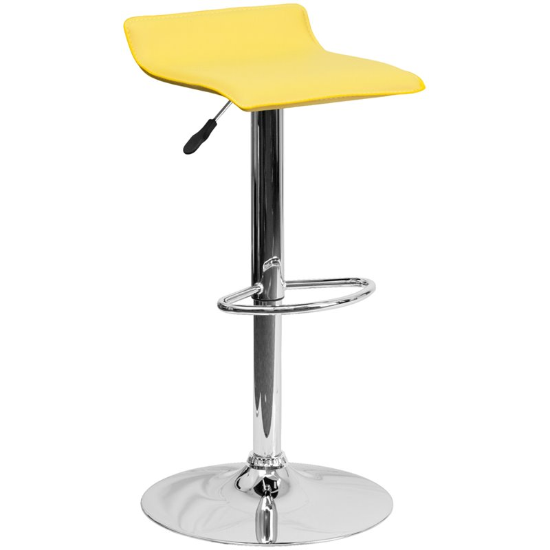 Backless Bar Stool in Yellow