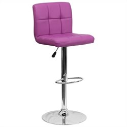 Quilted Bar Stool in Purple