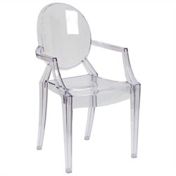 Dining Chair with Arms in Transparent Crystal