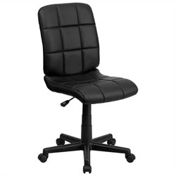 Mid Back Quilted Task Office Chair in Black
