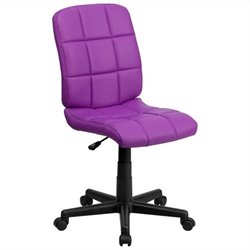 Mid Back Quilted Task Office Chair in Purple