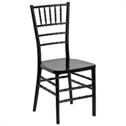 Stacking Dining Chair in Black