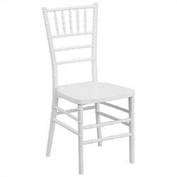 Resin Stacking Dining Chair in White
