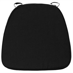 Soft Black Fabric Chiavari Cushion for Wood Bar Stools