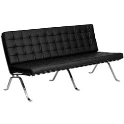 Leather Sofa in Black