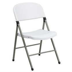 Plastic Folding Chair in White
