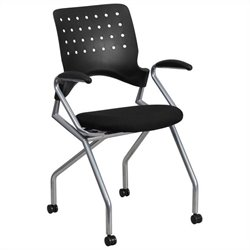 Mobile Nesting Folding Chair with Arms in Black