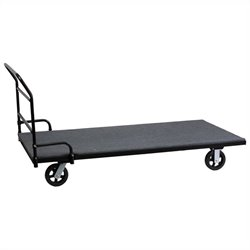 Rectangular Folding Tables Dolly in Black
