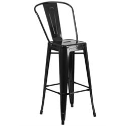 Metal 30'' Bar Stool in Black