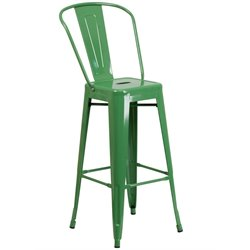 Metal 30'' Bar Stool in Green