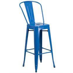 Metal 30'' Bar Stool in Blue