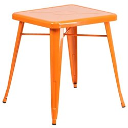 Metal Square Bistro Table in Orange