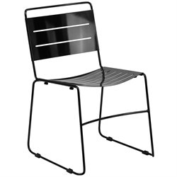Metal Stack Dining Chair in Black