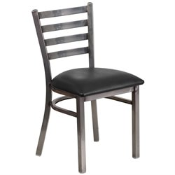 Flash Furniture Hercules Ladder Back Restaurant Chair in Black
