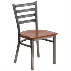 Flash Furniture Hercules Ladder Back Restaurant Chair in Cherry