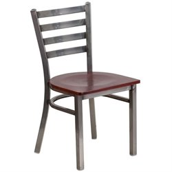 Flash Furniture Hercules Ladder Back Restaurant Chair in Mahogany