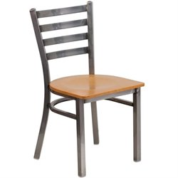 Flash Furniture Hercules Ladder Back Restaurant Chair in Natural