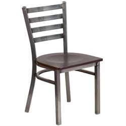 Flash Furniture Hercules Ladder Back Restaurant Chair in Walnut