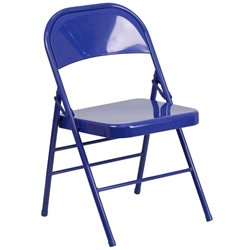 Metal Folding Chair in Blue