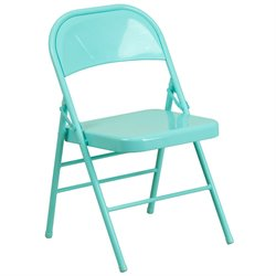 Metal Folding Chair in Teal