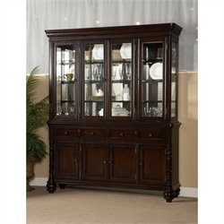 Largo Furniture Fox Run China Cabinet in Chocolate