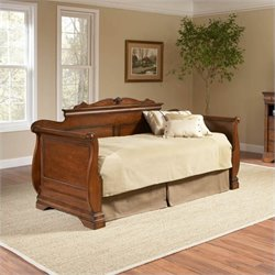 Largo Furniture Bordeaux Wood Daybed in Brown Cherry