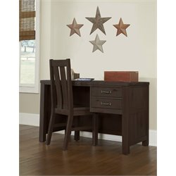 NE Kids Highlands 2 Drawer Computer Desk with Chair-MER-1211-2
