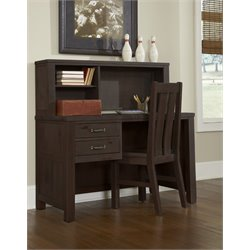 NE Kids Highlands 2 Drawer Computer Desk with Hutch and Chair-MER-1211-3