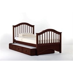 NE Kids School House Jordan Slat Bed with Trundle in Cherry-MER-1211-14