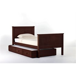 NE Kids School House Casey Panel Bed with Trundle in Cherry-MER-1211-25